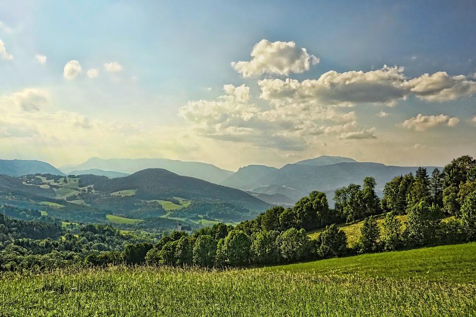 Nature, Landscape, Grass, Fields, Summer, Hill, View