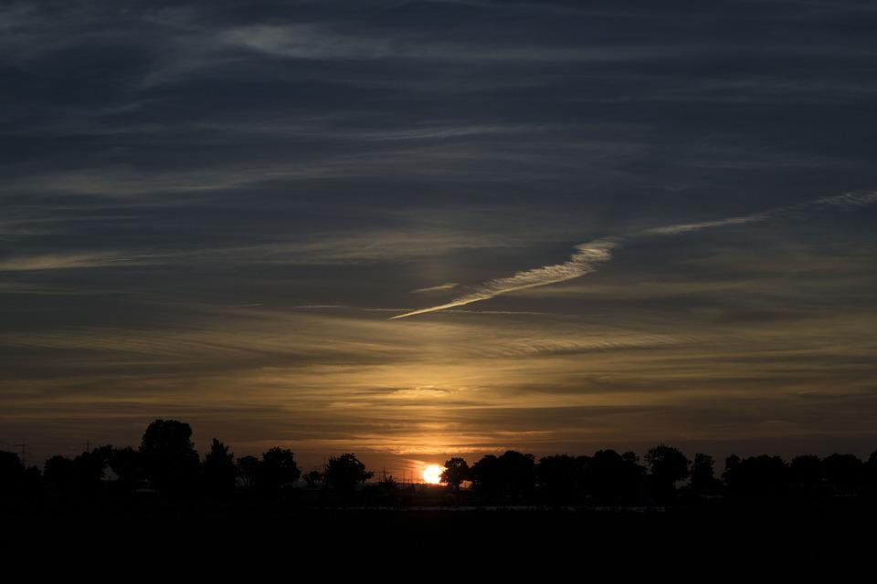 Sky, Sunset, Silhouette, Nature, Summer, Landscape