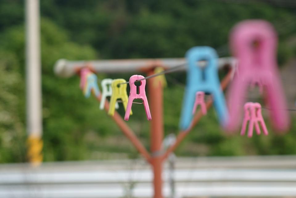 Laundry, Clothes Peg, Summer