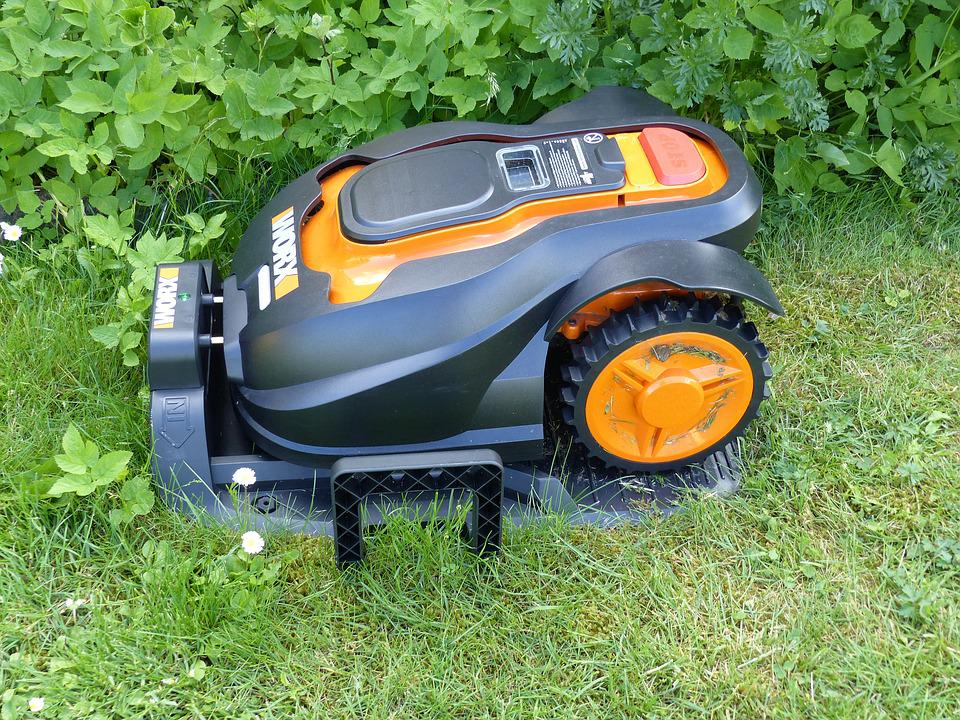 Lawn Mowers, Robot, Lawn, Grass, Summer, Colors