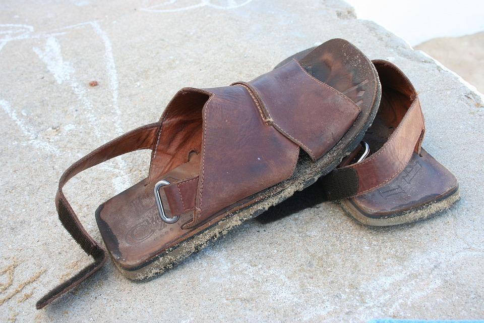 Sandal, Summer, Leather