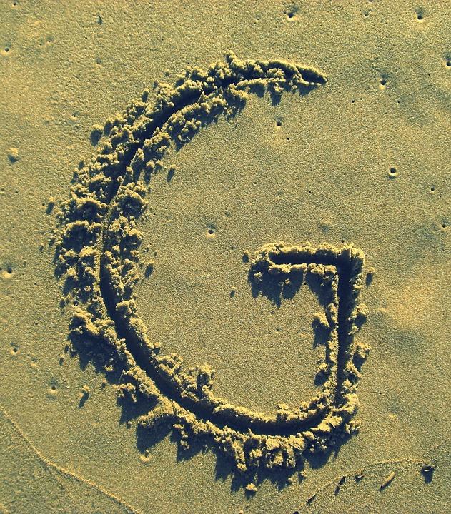 Letter G, Sand, Stick, Beach, Summer