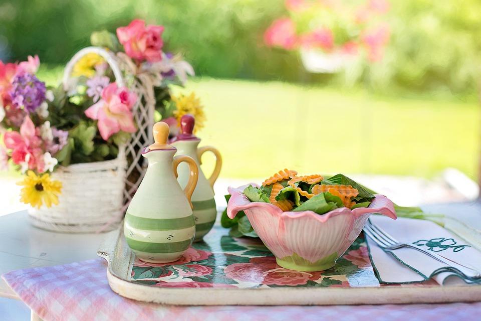 Salad, Summer, Greens, Veggies, Lettuce, Summer Lunch