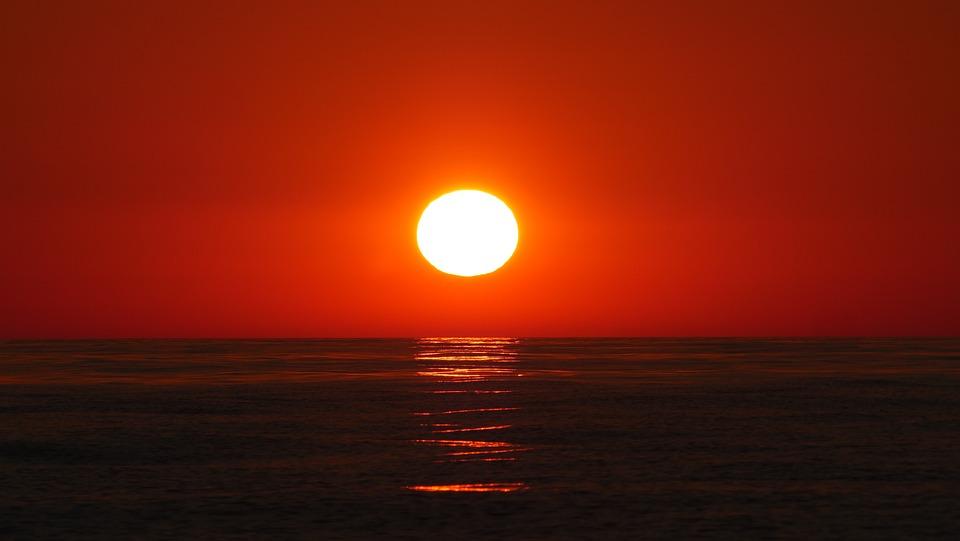 Summer, Sun, Sea, Landscape, Sky, Sunrise, Light