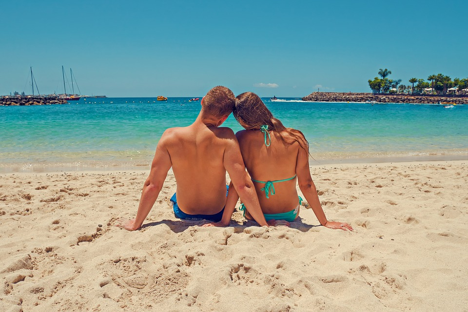 Summer, Holiday, Beach, Love, A Couple Of, Young Couple