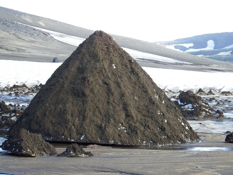 Mountain Plateau, Summer, Snow, Melting Snowfields
