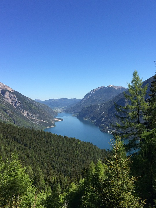 Achensee, Mountain, Blue Sky, Summer, Wood