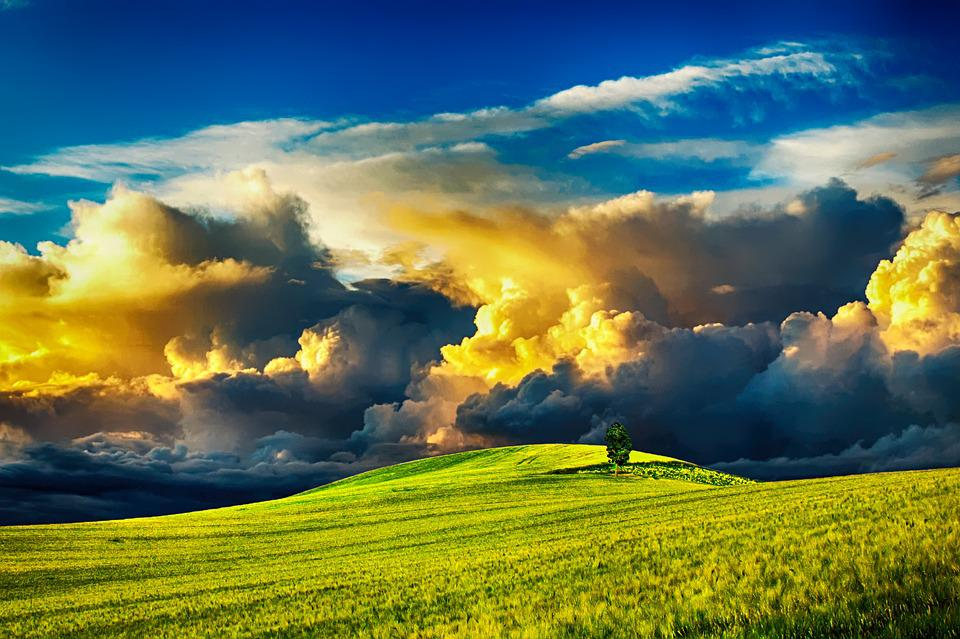 Countryside, Clouds, Sky, Landscape, Nature, Summer