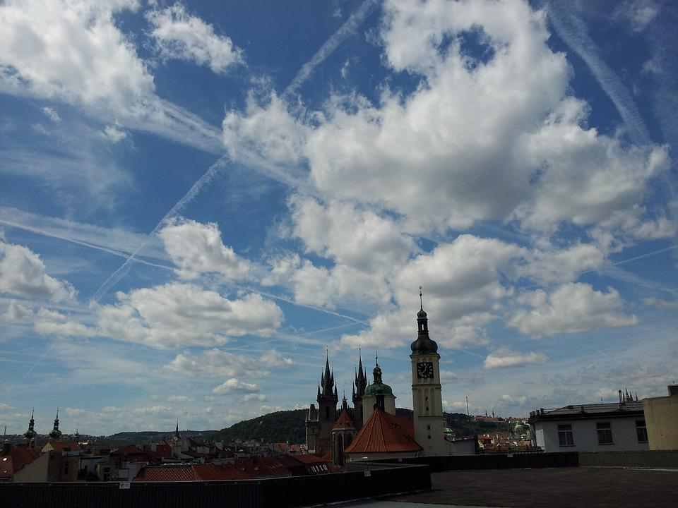 Prague, Summer Noon, Clouds