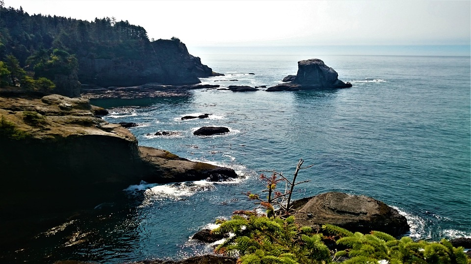 Ocean, Rock, Summer