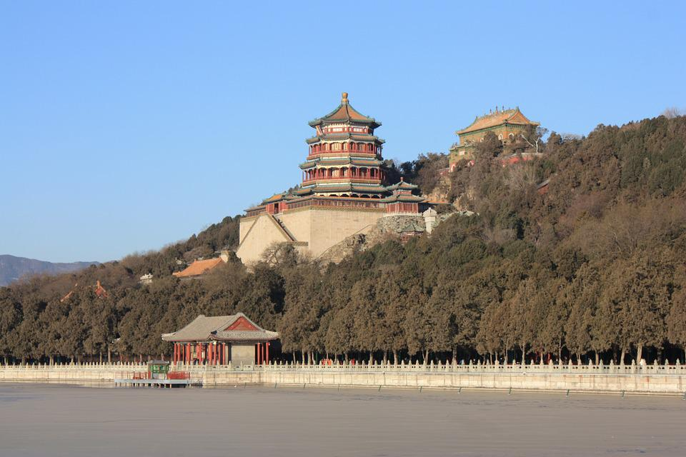 Summer Palace, Beijing, Winter, Ice, China, Frozen