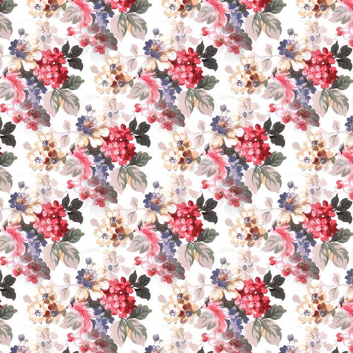 Scrapbooking, Floral Background, Pattern, Summer