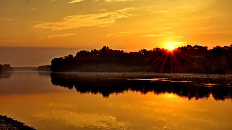 Drava, Dawn, Fishing, Rest, Summer, River