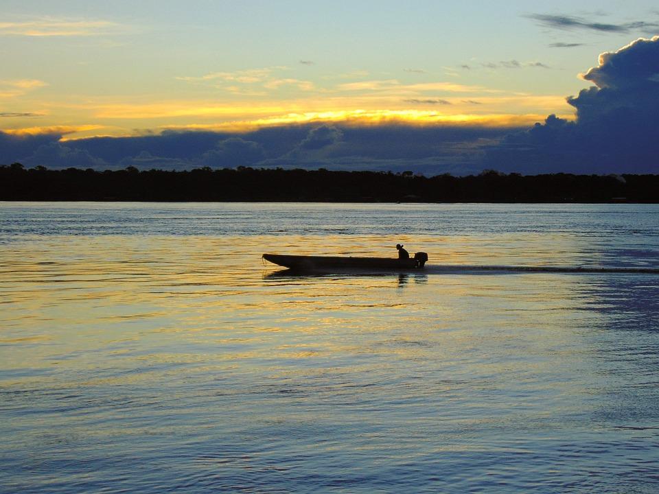 Nature, Sunset, Summer, Rio, Brazil, Eventide, Boat