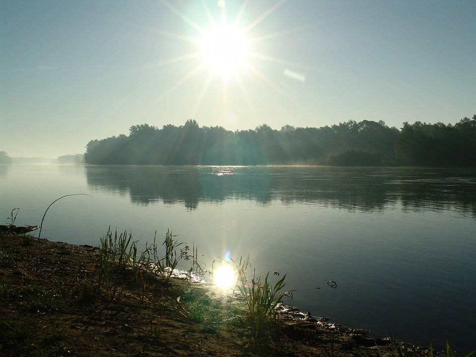 Drava, Dawn, Fishing, Summer, River