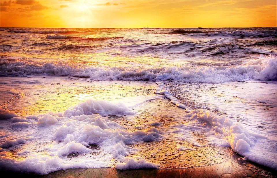 Beach, Wave, Sun, Sea, Water, Summer, Coast, Sand