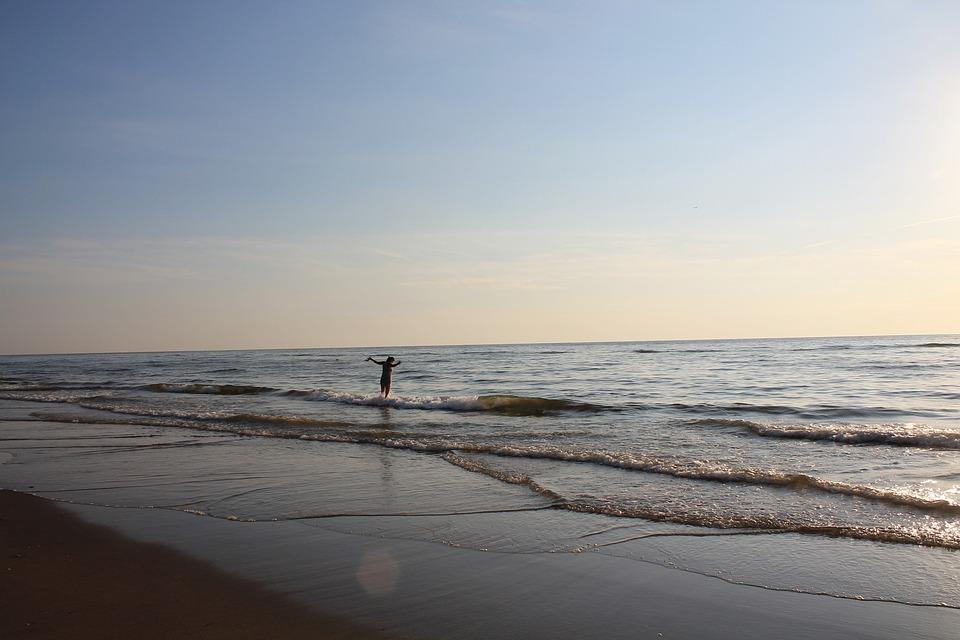 Summer, North Sea, Coast, Sand, Wave, Nature, Holidays