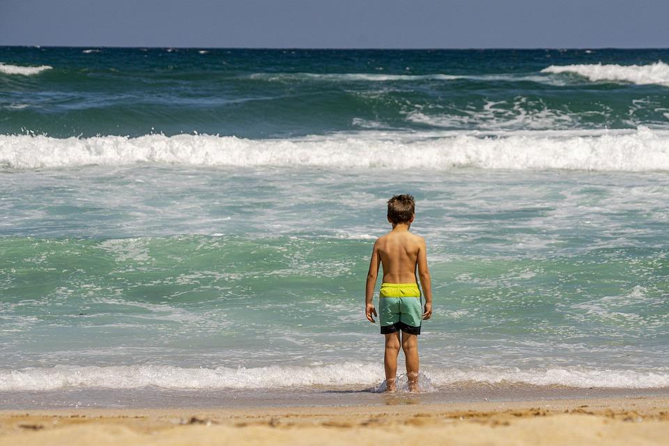 Young Boy, Beach, Boy, Child, Summer, Sea, Sand, Happy