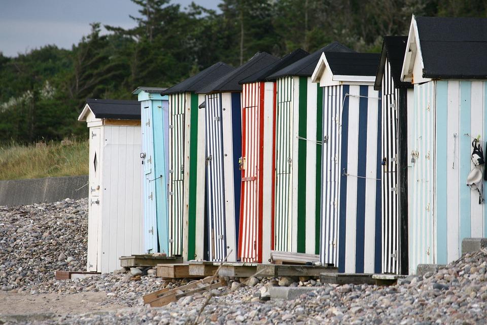 Beach Hut, Beach, Summer, Journey, Sea, Holiday
