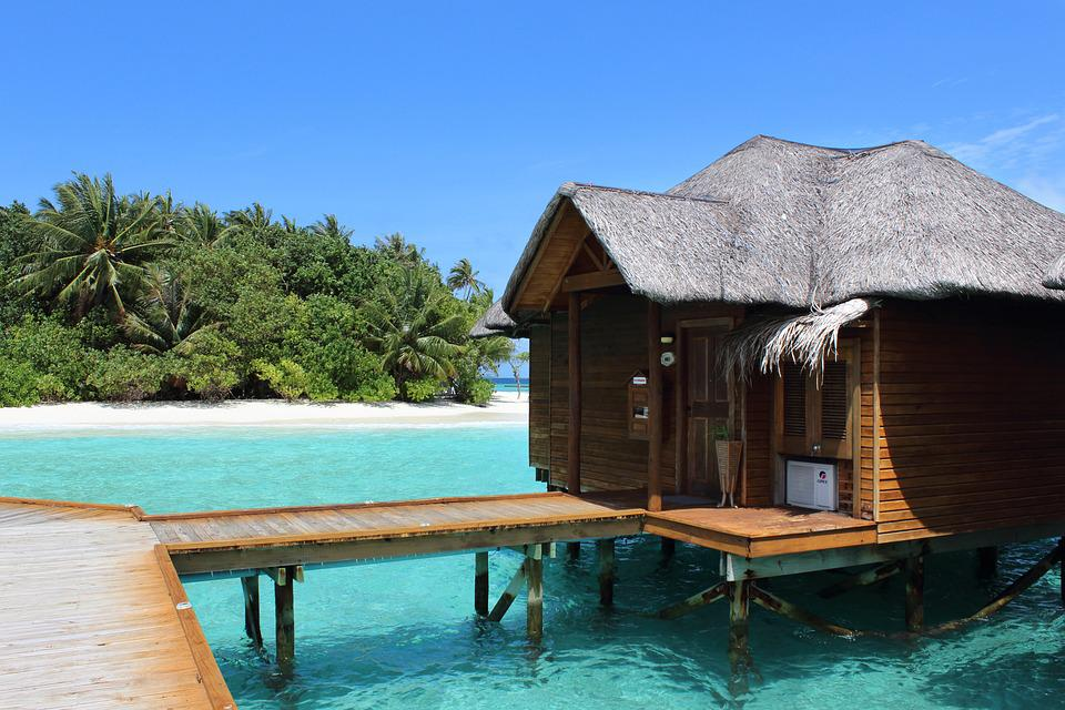 Maldives, Sea, Beach, Hut, Holiday, Summer, Beach Sea