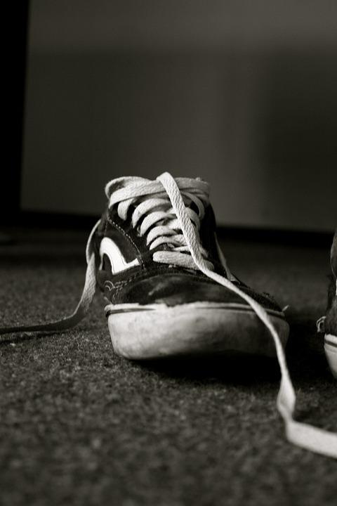 Shoes, Shoelace, Summer Shoes, Black White