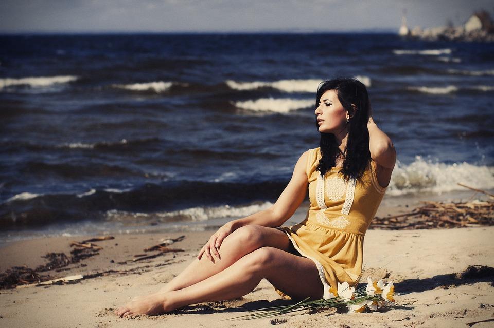Sea, Face, Portrait, Nature, Summer, Sky, Woman