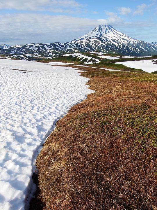 Mountain Plateau, Summer, Winter, Volcano, Snow, Nature