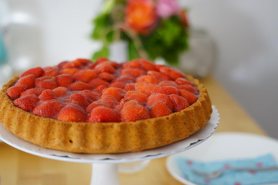 Strawberry, Cake, Summer, Red, Eat, Bake