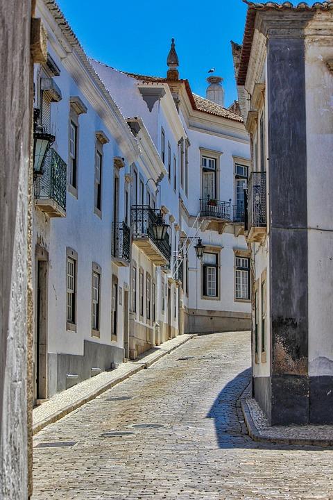 Faro, Portugal, Old Town, Street, Summer, Algarve, Old