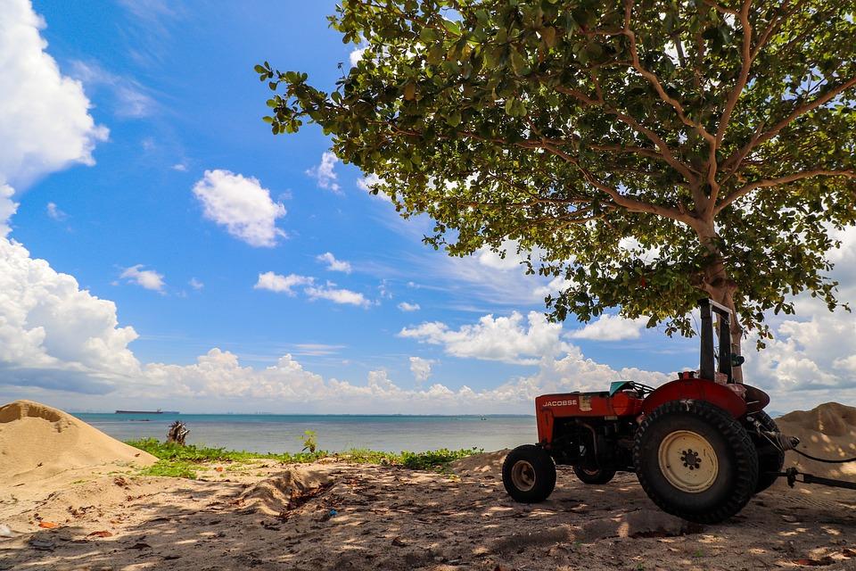 Summer, Sun, Vacations, Tractor, Beach, Sky, Warm