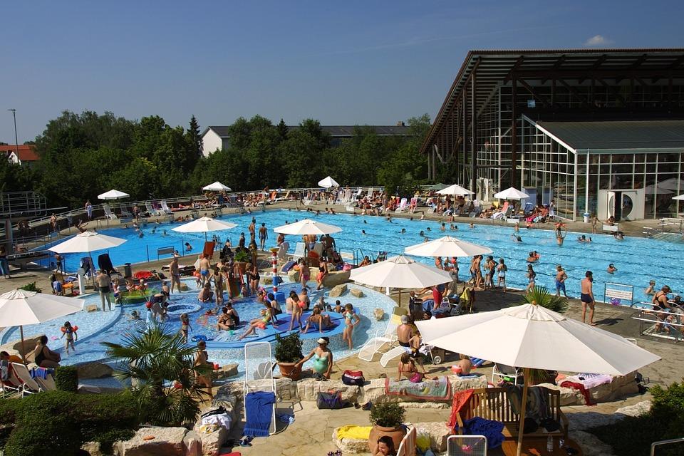Swimming Pool, Caprima, Water, Sun, Summer, Parasol