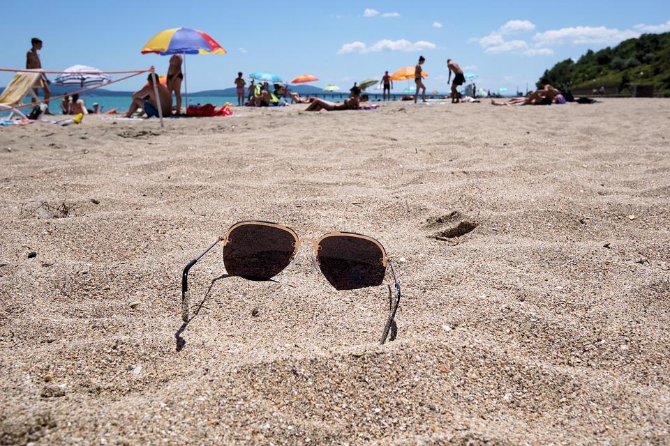 Sunglasses, Sand, Beach, Summer, Sun, Holiday, Glasses