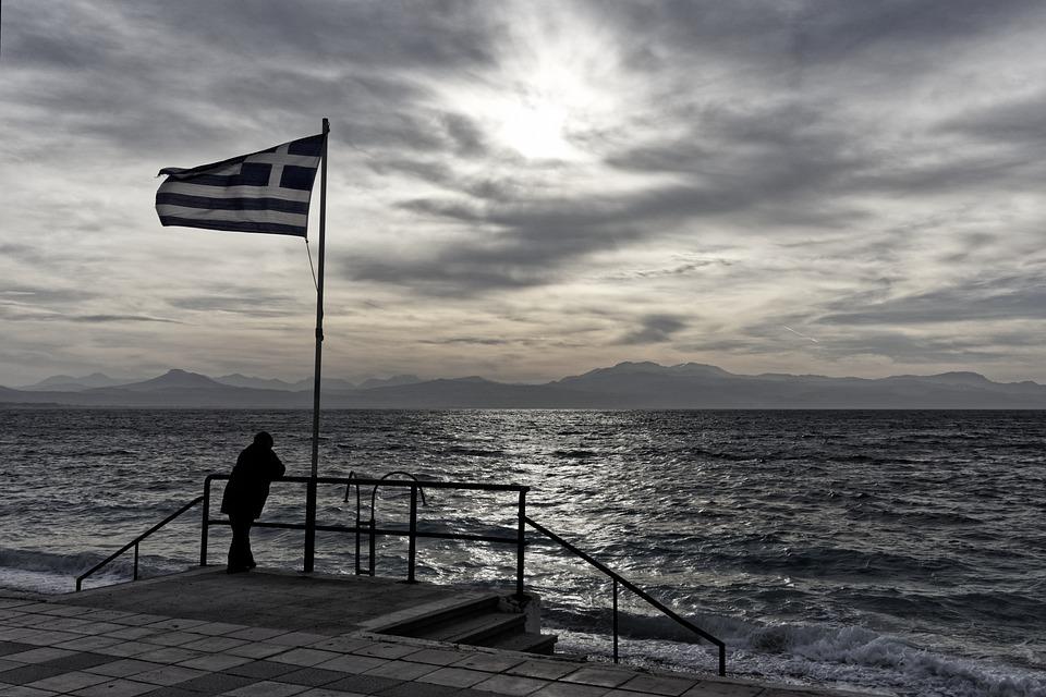 Sunset, Greece, Summer, Island