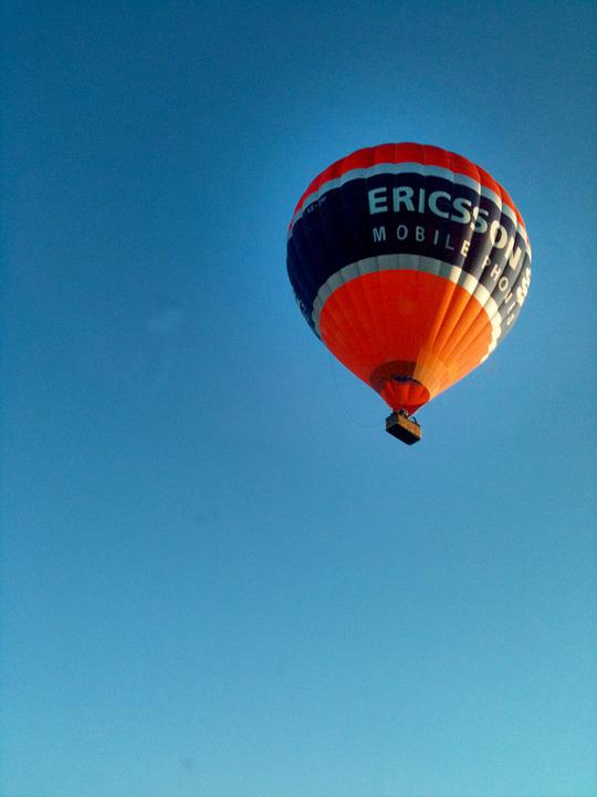 Hot Air Balloon, Summer, Blue Sky, Himmel, Blue, Sweden