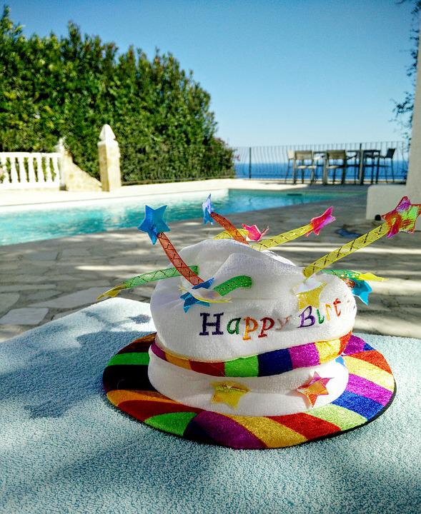 Birthday, Hat, Candles, Funny, Summer, To Celebrate
