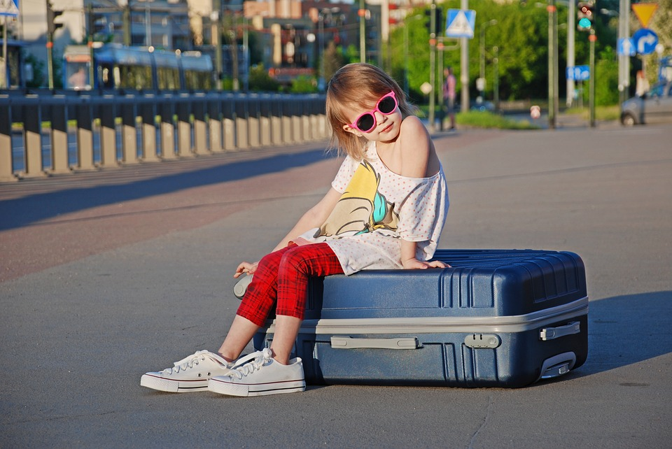 Kids, Vacation, Suitcase, Sports, Summer