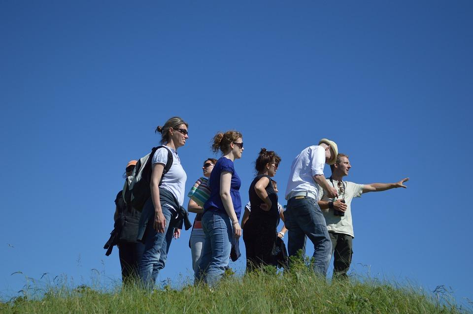 Group, Excursion, Follow, Watch, Tour, Summer, Walk