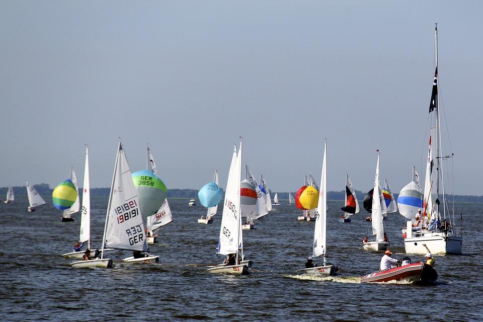 Sailing Boats, Sailing, Water, Summer, Ribnitz Ut