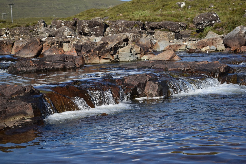 Scotland, Fors, Water, Stones, Nature, Summer