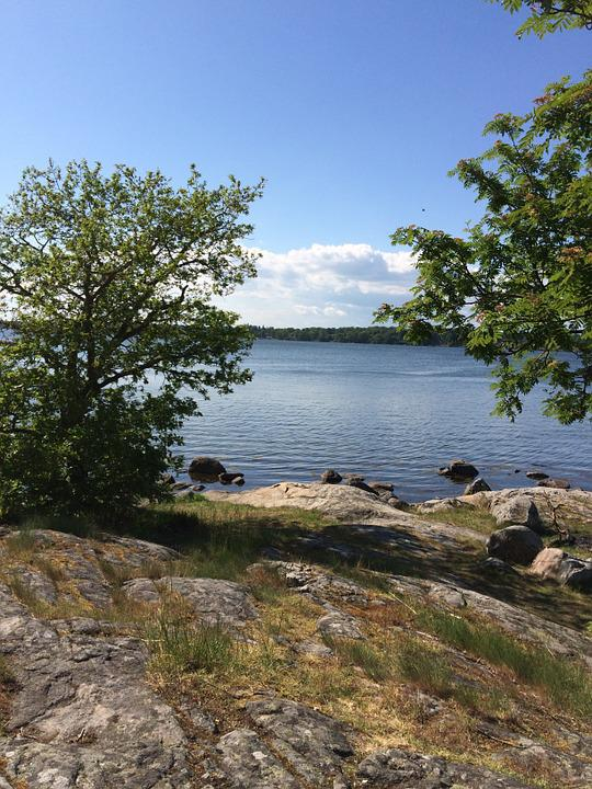 Sweden, Blue, Himmel, Sky Blue, Summer, Tree, Water