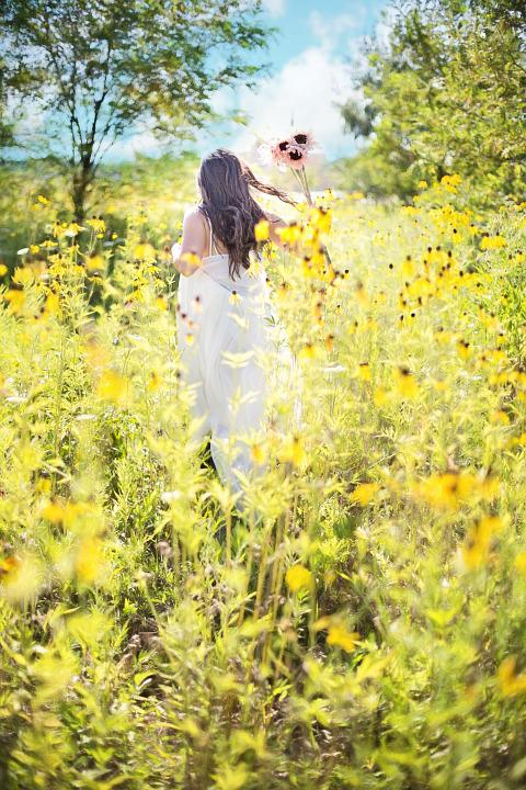 Pretty Woman, Wildflowers, Summer, Nature, Happy