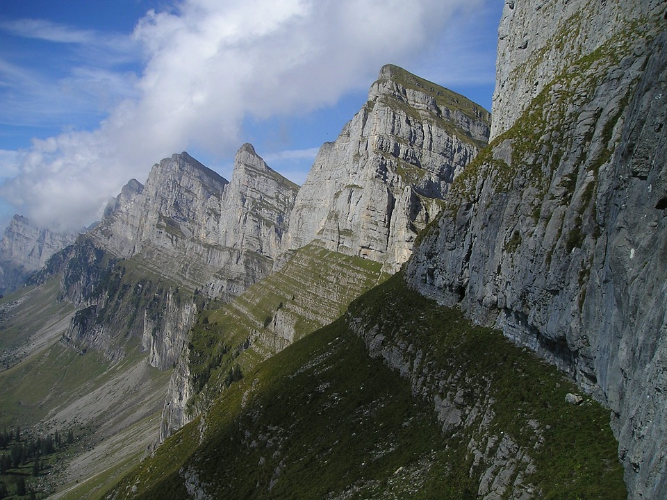 Mountains, Alpine, Churfirsten, Switzerland, Summit