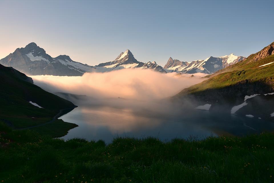 Bachalpsee, Bergsee, Mountain Landscape, Nature, Summit