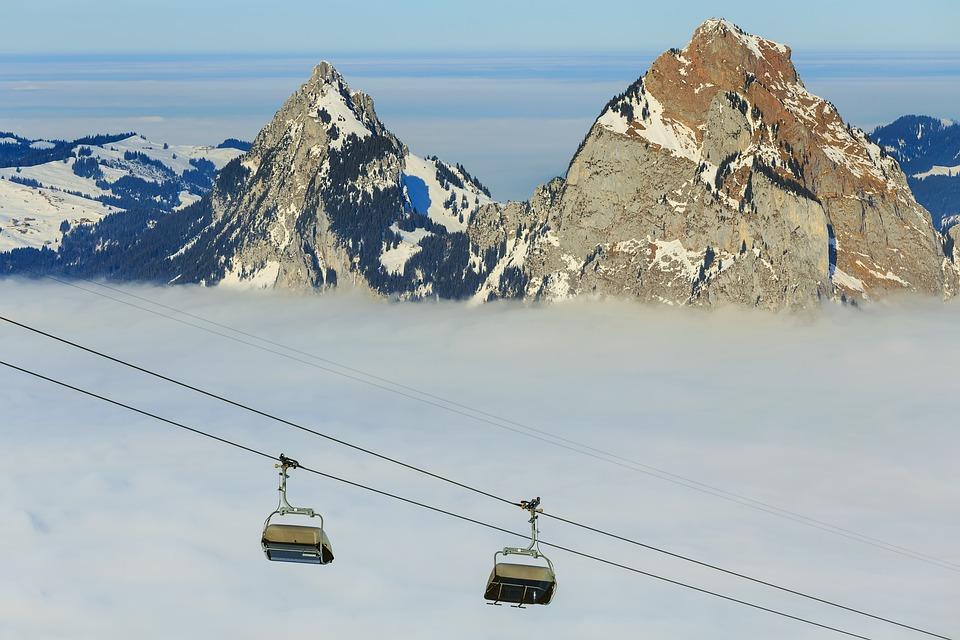 Chair Lift, Ski Lift, Ropeway, Cable Car, Summit, Peak