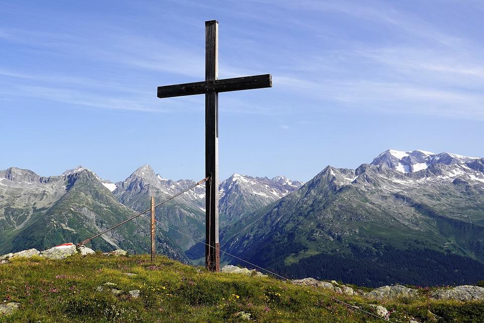 Mountain Cross, Cross, Sumvitg, Mountain Panorama