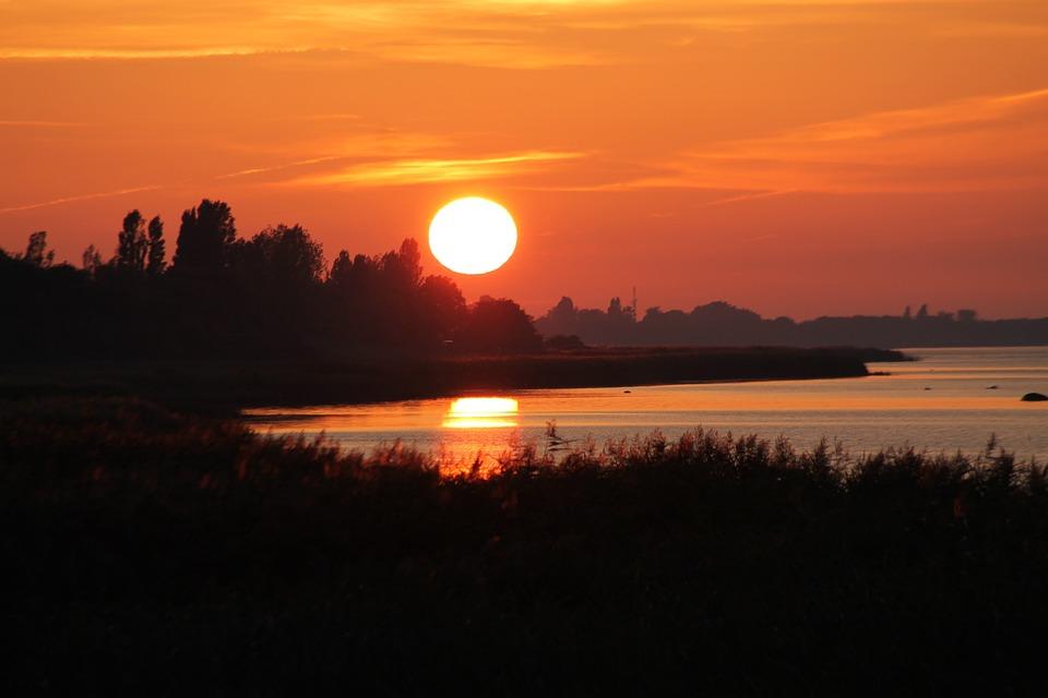 Sunset, Sea, Baltic Sea, Evening Sky, Atmosphere, Sun