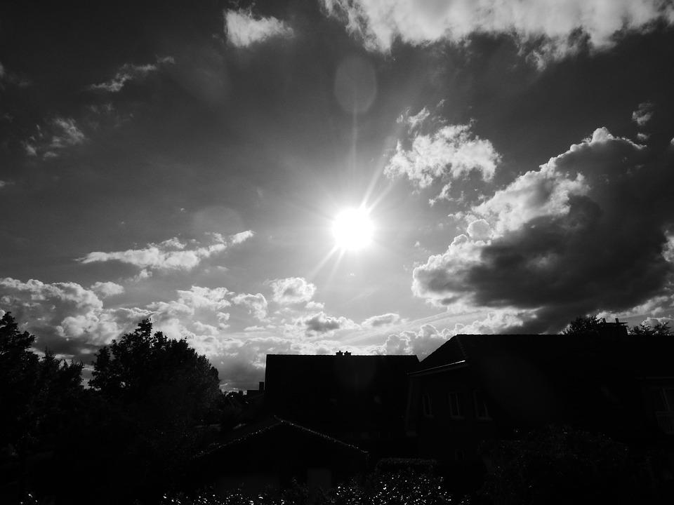 Black, White, Sun, Black And White, Summer