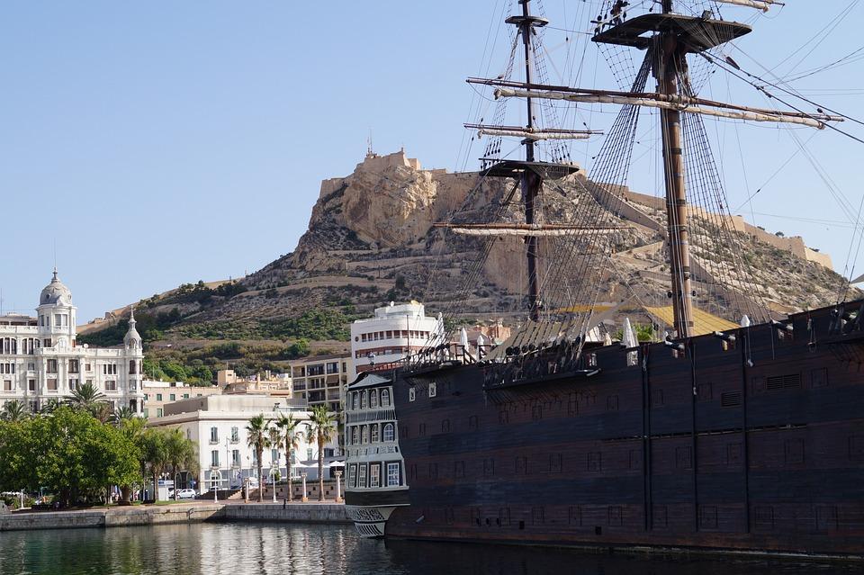 Alicante, Blue Sky, Spain, Summer, Sun, Vacations, Boat