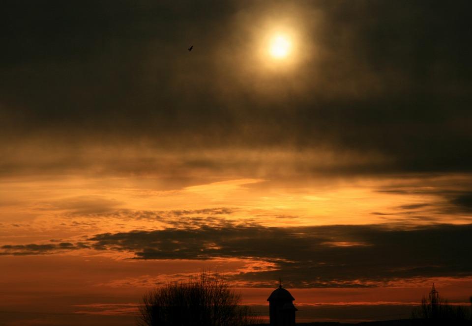 Sun, Cloud, Sky, Church