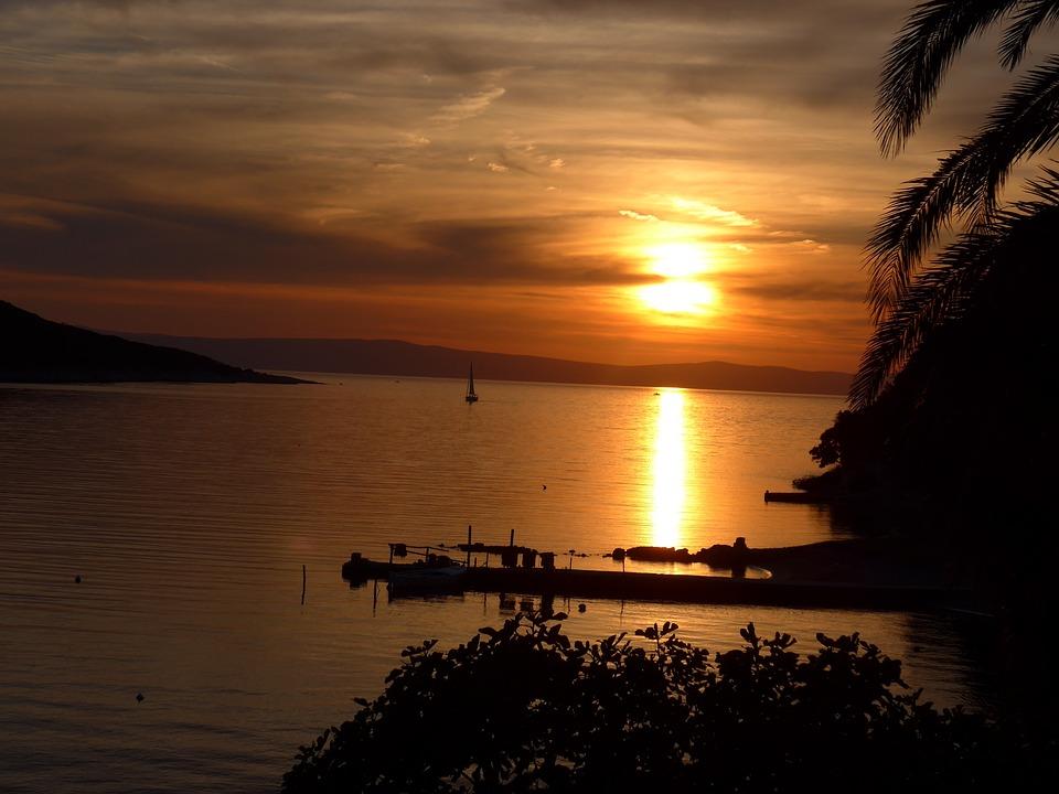 Sunset, Waters, Dusk, Dawn, Sun, Coast, Evening